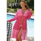 Wholesale Open Front Embroidered Cover-Up