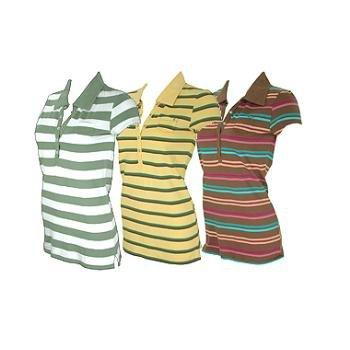 Wholesale COED: Junior Cap Sleeve Pique Polo Shirts