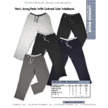 Wholesale Men's cotton jersey knit lounge pants