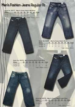 Wholesale Men's 5 Pocket Cross Hatch Light Blue Fashion Deni