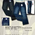 Wholesale Men's 5 Pocket Rain Drop Dark Blue Denim Jean