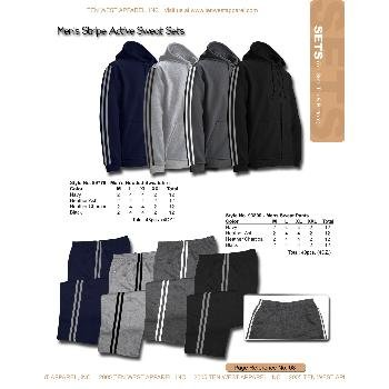 Wholesale Men's fleece bottom with stripe