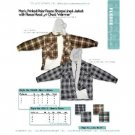 Wholesale Men's printed polar fleece full zip sherpa jacket