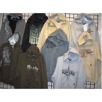 Wholesale RUSTY Men's Hoodies Zip Front Sweatshirt