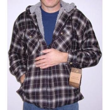 NEW! Wholesale Flannel Sherpa Lined Jackets/with Hood
