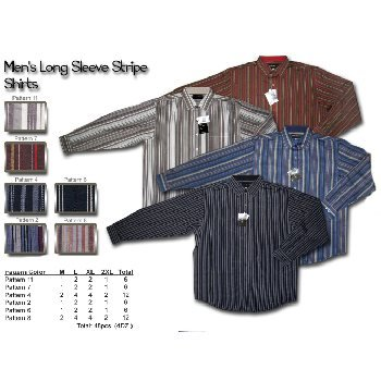 Wholesale Men's long sleeve striped shirts