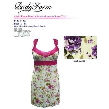 Wholesale BodyForm Lingerie Mesh Nightgown