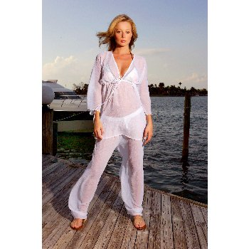 Wholesale Kabuki Cover-up Top & Beach Pant Set