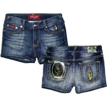 NEW! Wholesale Baby Phat Ladies Denim Bermuda Shorts