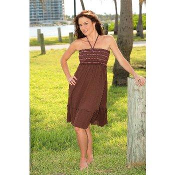 Wholesale Cotton Gauze Smock Top Convertible Dress/Skirt