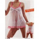 Wholesale Women's 2pc Baby Doll Sets w/ Matching Thongs