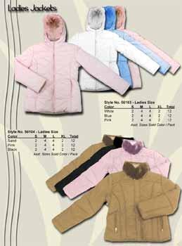 Wholesale Ladies Fashion Winter Jacket