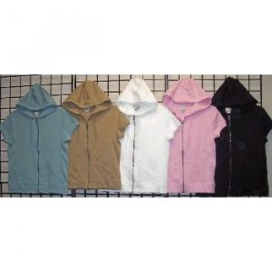 Wholesale PROSPIRIT Ladies Capsleeve Stretch Hoodies