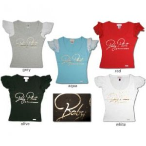 NEW! Wholesale Assorted Baby Phat Ladies Tees