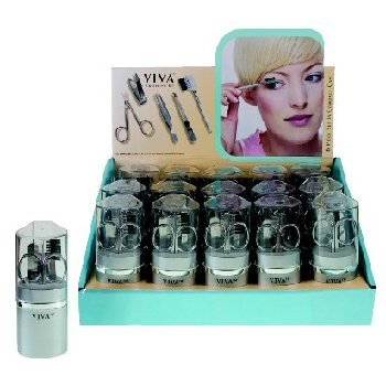 NEW! Wholesale 6 Piece Viva Cosmetic Tool Set In Display