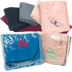 "Wholesale Trailworthy 45"" x 60"" Fleece Blanket & Storage Bag"