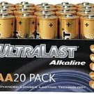 Wholesale Ultralast Alkaline Battery Bulk Pack