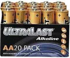 Wholesale Ultralast Alkaline Battery Bulk Pack