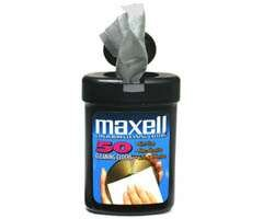 Wholesale Maxell 50-Pack CD Disc Cleaning Cloths