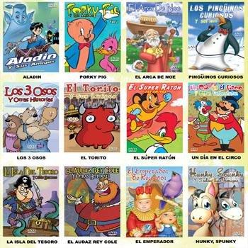 Wholesale Spanish Cartoon DVDs Box 6