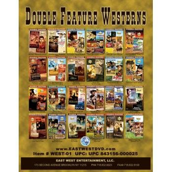 NEW! Wholesale Double Featured WESTERN Films on DVD