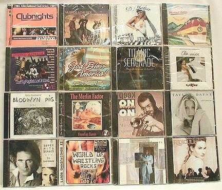 Wholesale 120 Assorted Music CD's