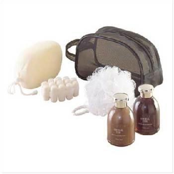 Wholesale Man's Bath Set-Mesh Travel Bag