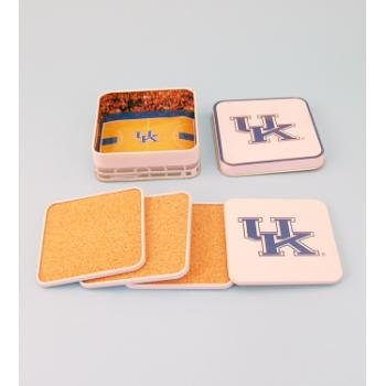 Wholesale Collegiate Cork Coaster Set - Kentucky