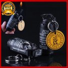 Men's Military army style metal key chain wheel flame Gas lighter outdoor sports