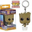 Funko pocket pop keychain Marvel comics Dancing Groot bobble head new in box