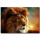 Golden African Lion Abstract Art Poster Wild Animal 32x24