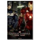 Captain America 3 Civil War Fabric Poster Iron Man 32x24