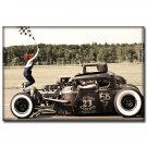 Hot Rod Muscle Cars Poster Print Home Wall Decor 32x24