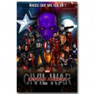 Captain America 3 Civil War Superhero Movie Poster 32x24