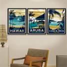 Hawaii Tropical Sea Beach Seascape Art Canvas Poster Modern Decor 32x24