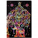 Elephant Tree Of Life Trippy Abstract Art Poster 32x24