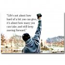 Rocky Balboa Motivational Life Quotes Poster Print 32x24