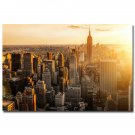 New York City Morning Sunrise Cityscape Poster Skyscrapers 32x24