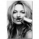 Kate Moss Poster Life Is A Joke Mustasch Poster Black White 32x24