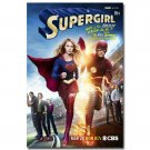 Supergirl And The Flash Superheroes Art Poster Print 32x24