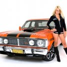 Ford Falcon Hot Girl Tuning Retro Muscle Car Photo Print POSTER 32x24