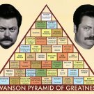 Parks And Recreation Swanson Pyramid Of Greatness Print POSTER 32x24