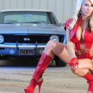 Muscle Car Classic Chevrolet Camaro SS Hot Girl Photo Print POSTER 32x24