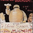Vintage French Michelin Art Poster Print 32x24