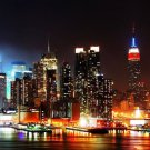 New York City Night Cityscape Wall Print POSTER Decor 32x24