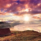 Mountains Sky Sunrise Nature Wall Print POSTER Decor 32x24