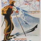 Dolomiti Vintage Travel Wall Print POSTER Decor 32x24