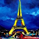 Eiffel Tower Landscape Paris City Wall Print POSTER Decor 32x24