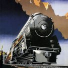 Vintage Train Travel Wall Print POSTER Decor 32x24