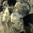 Norman Rockwell Freedom Of Worship Fine Art Print 32x24